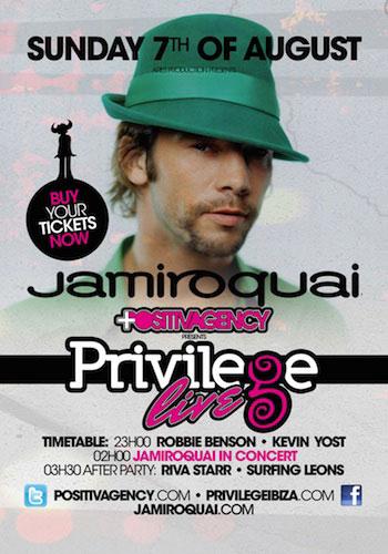 Jamiroquai en Privilege (Ibiza)