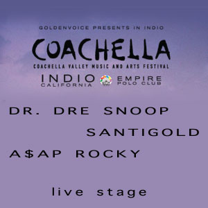 Dre+Snoop+Santigold+A$AP Rocky en Coachella