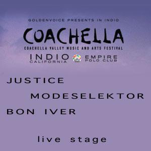 Justice+Modeselektor+Bon Iver en Coachella Festival