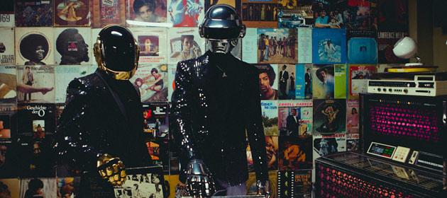 """Vinilo de color oro del """"Da Funk"""" de Daft Punk"""