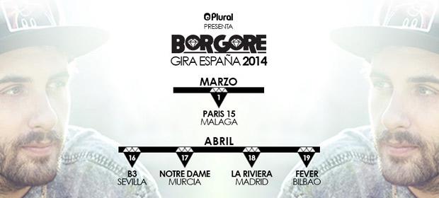 Borgore: Actuaciones en España 2014