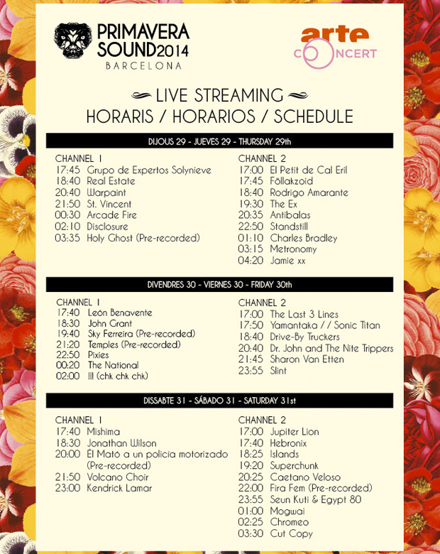 primavera-sound-horarios-2014-live-streaming