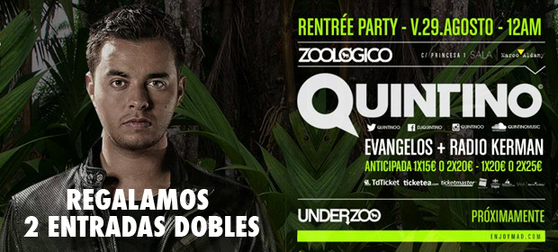 Regalamos 2 Entradas Dobles para Quintino en Zoológico Club (Madrid)