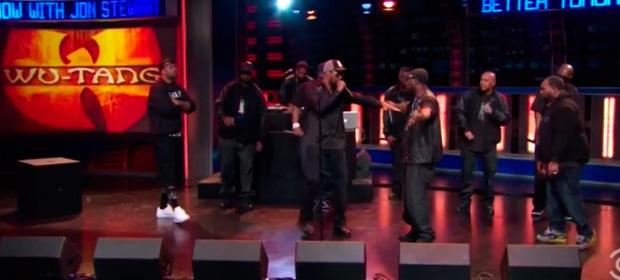 Wu-Tang Clan al completo en directo presentando su nuevo single