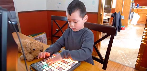 Así maneja este niño prodigio de 5 años su Launchpad S