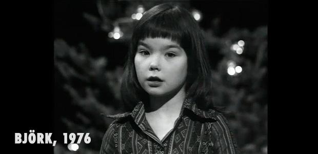 Björk con 11 años en un especial de Navidad de la TV islandesa