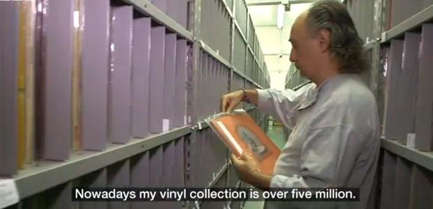 Vídeo de la mayor colección de vinilos del mundo