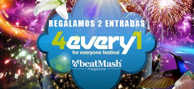 Regalamos dos entradas para 4Every1 Festival