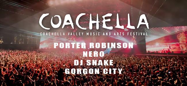Actuaciones de Porter Robinson, Nero, DJ Snake y Gorgon City en Coachella 2015