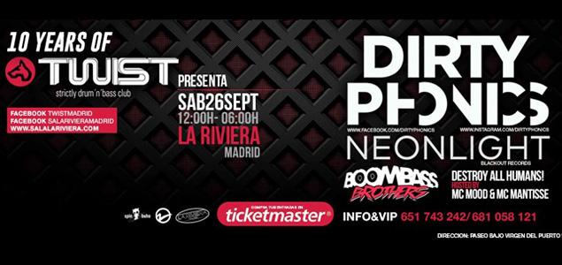 Dirtyphonics en Twist Club (La Riviera, Madrid)