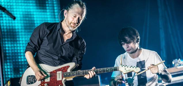Imágenes de Radiohead grabando su nuevo disco