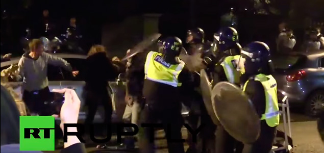Batalla campal en una rave de Londres