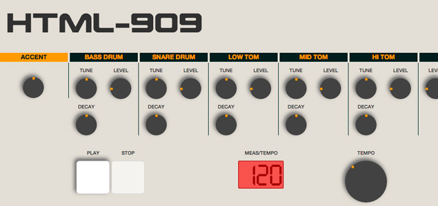 La caja de ritmos Roland TR-909 en tu ordenador