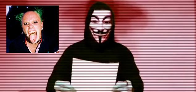 Anonymous VS. Keith Flint de The Prodigy