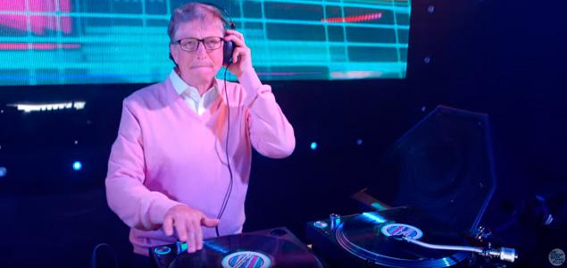 DJ Bill Gates en The Tonight Show Starring Jimmy Fallon