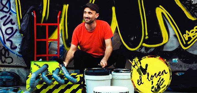 Percusionista en las calles de Madrid: El Loren