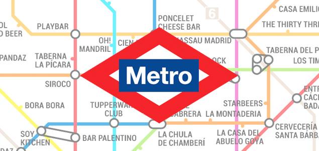 """El plano del Metro de Madrid versión """"garitos"""""""