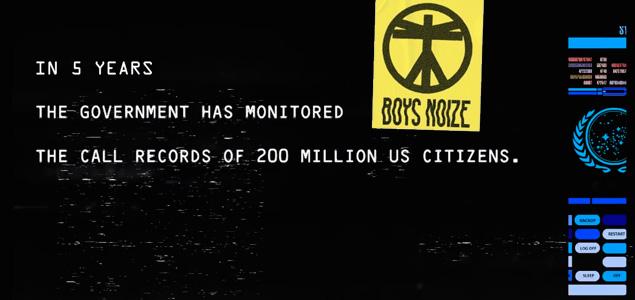 Vídeo de Boys Noize para la banda sonora de Snowden