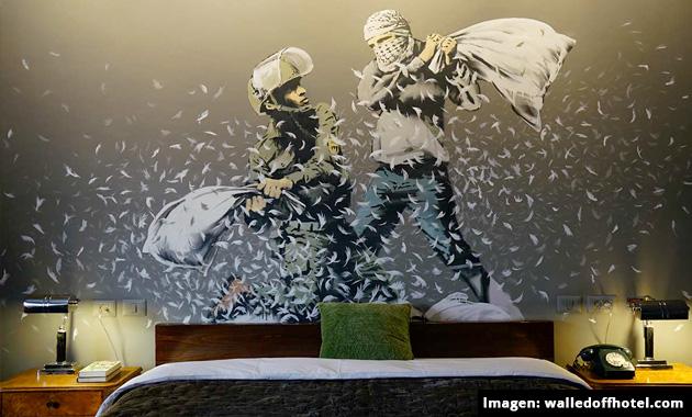 """Banksy presenta su nueva creación """"The Walled Off Hotel"""""""