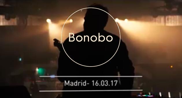 Bonobo resume su concierto en Madrid con un breve vídeo