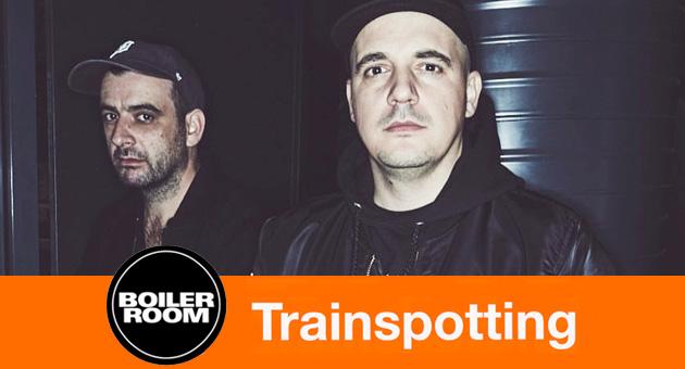 Modeselektor en la Boiler Room temática de Trainspotting