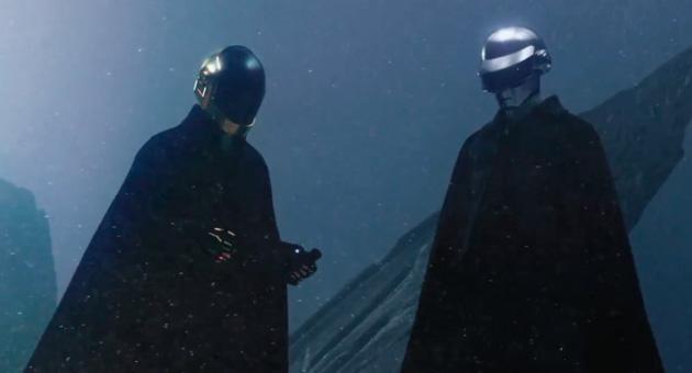 "The Weeknd y Daft Punk en el vídeo de ""I Feel It Coming"""