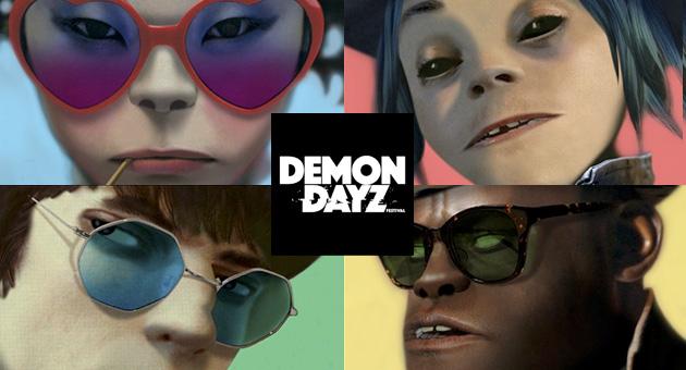 Gorillaz desvela el cartel de su festival Demon Dayz