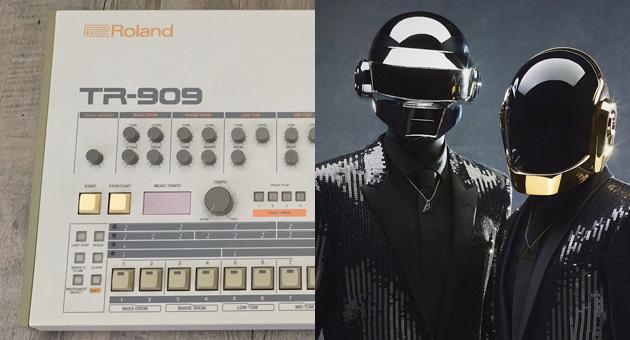 A subasta una Roland TR-909 de Daft Punk del 96